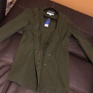 *NWT* Army green Zip up/button jacket